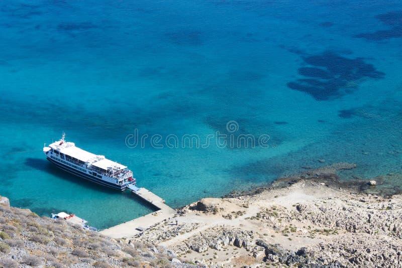 Крит Море Крепость на острове Gramvous стоковое фото