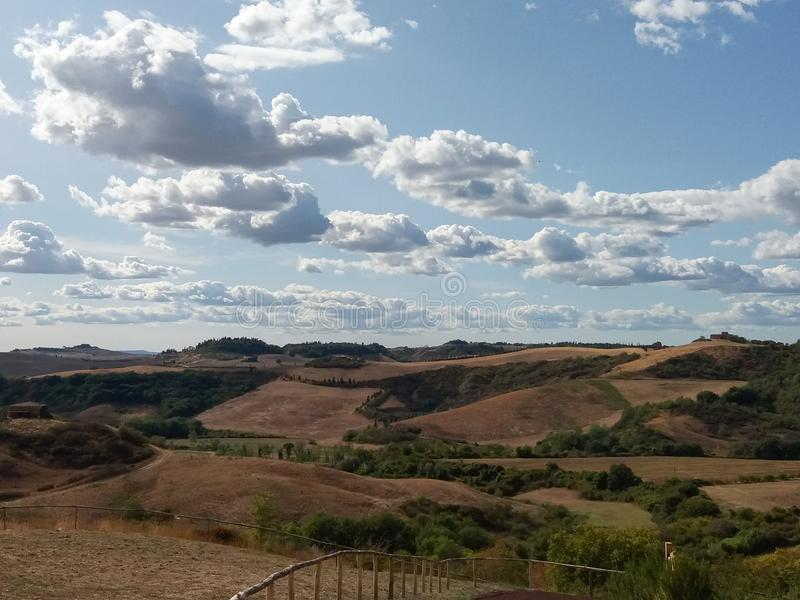Крит Senesi (глины Senese) в Сиене стоковое изображение rf