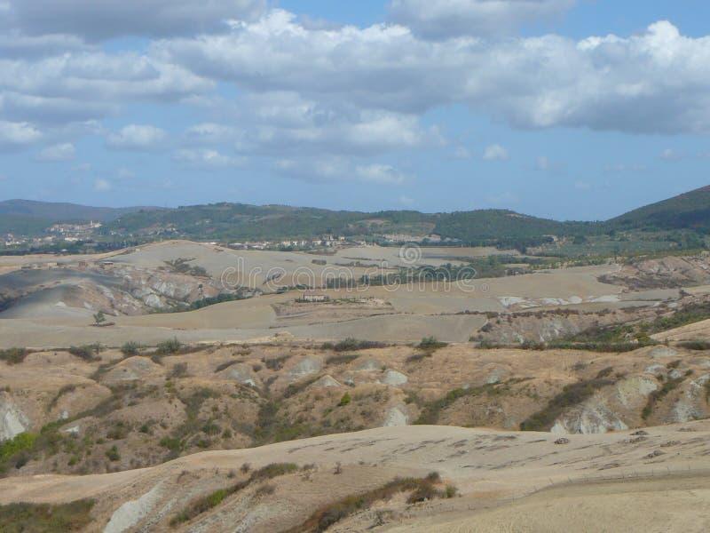 Крит Senesi (глины Senese) в Сиене стоковое изображение