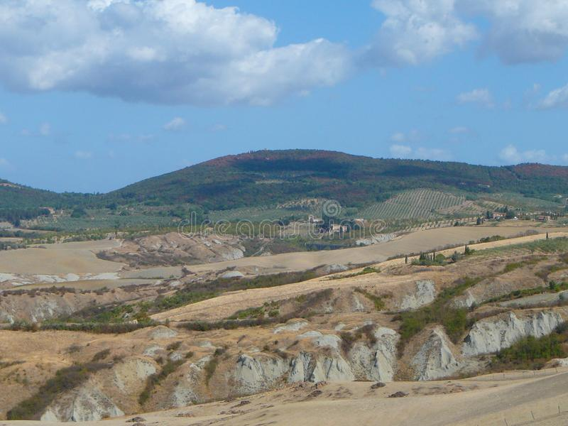 Крит Senesi (глины Senese) в Сиене стоковая фотография rf