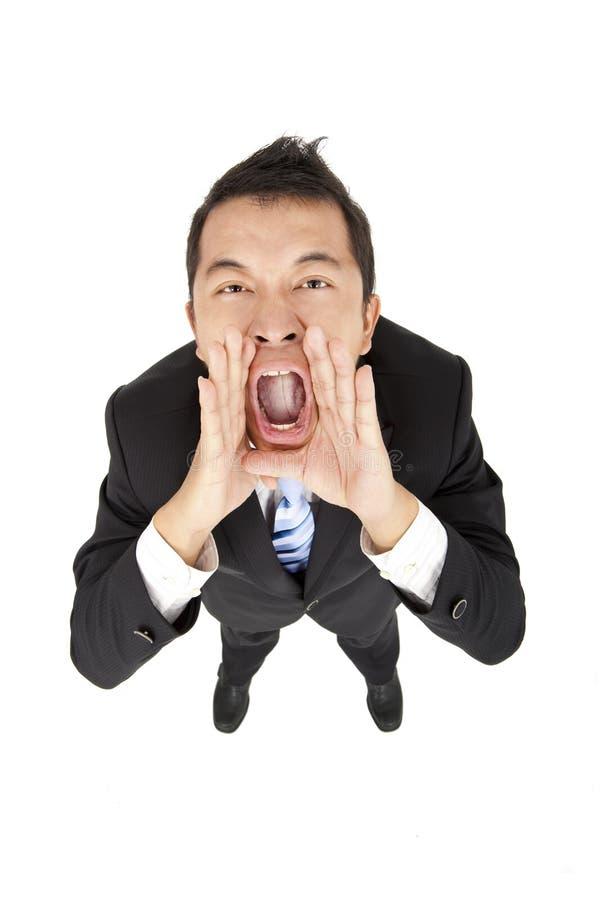 кричать бизнесмена Стоковое фото RF