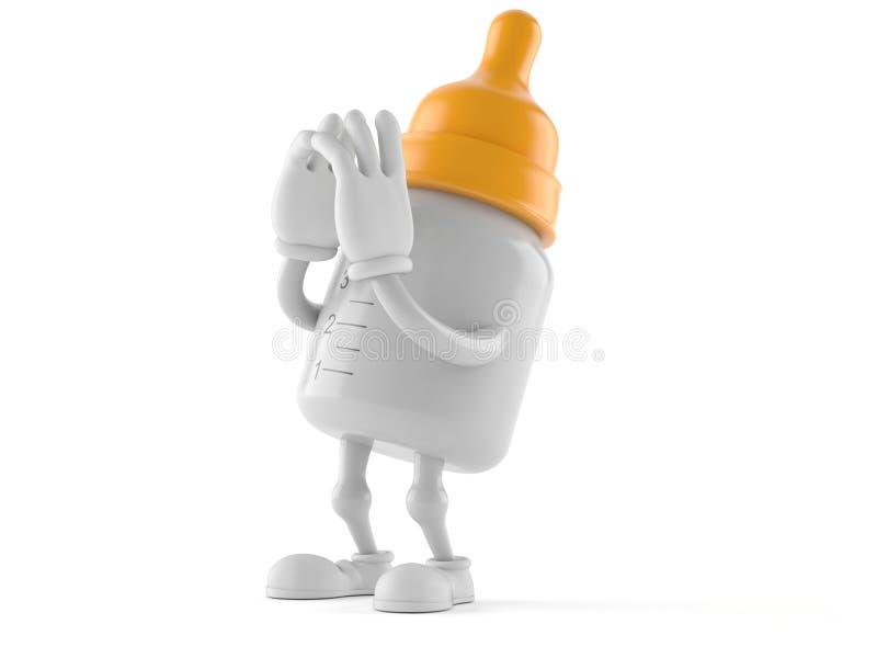 Кричать характера бутылки младенца бесплатная иллюстрация