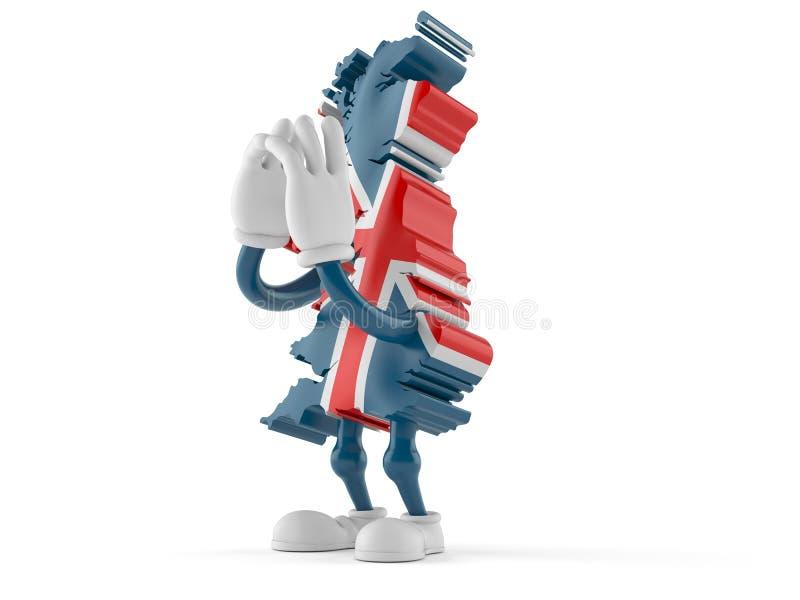 Кричать характера Великобритании иллюстрация вектора