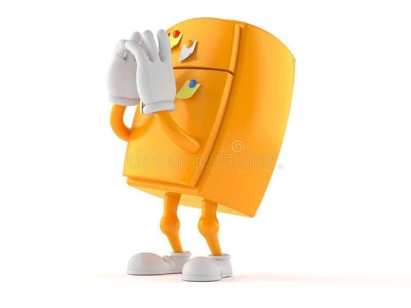 Кричать характера холодильника иллюстрация штока