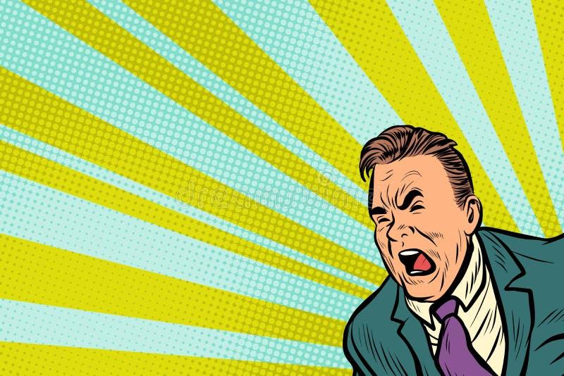 Кричать человека искусства шипучки бесплатная иллюстрация