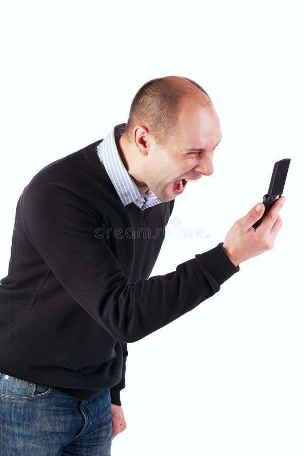 кричать человека стоковая фотография