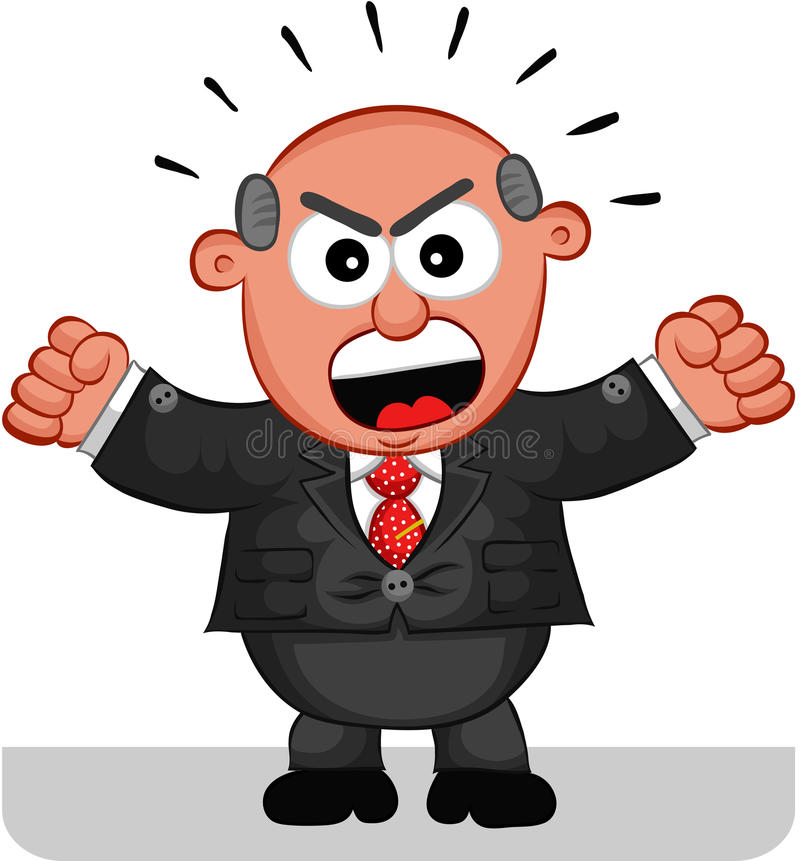 Кричать человека босса иллюстрация штока