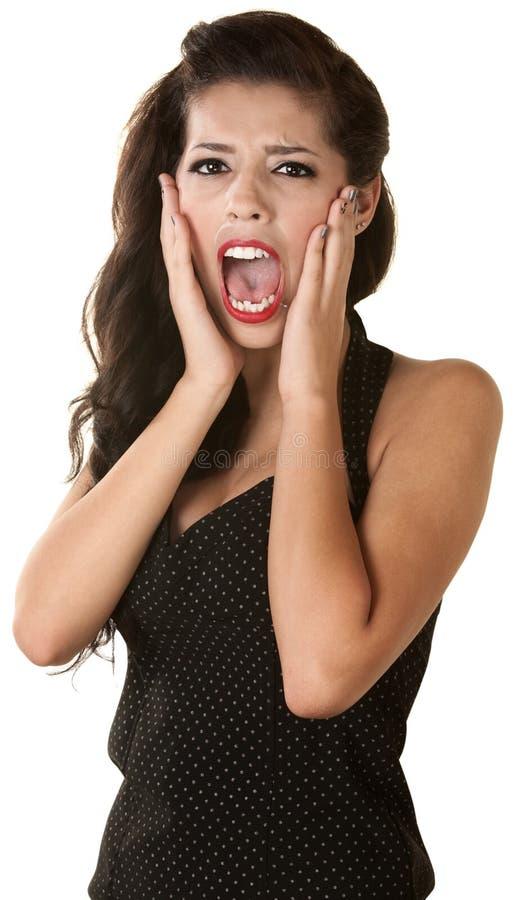 Кричащая женская молодость Стоковое фото RF