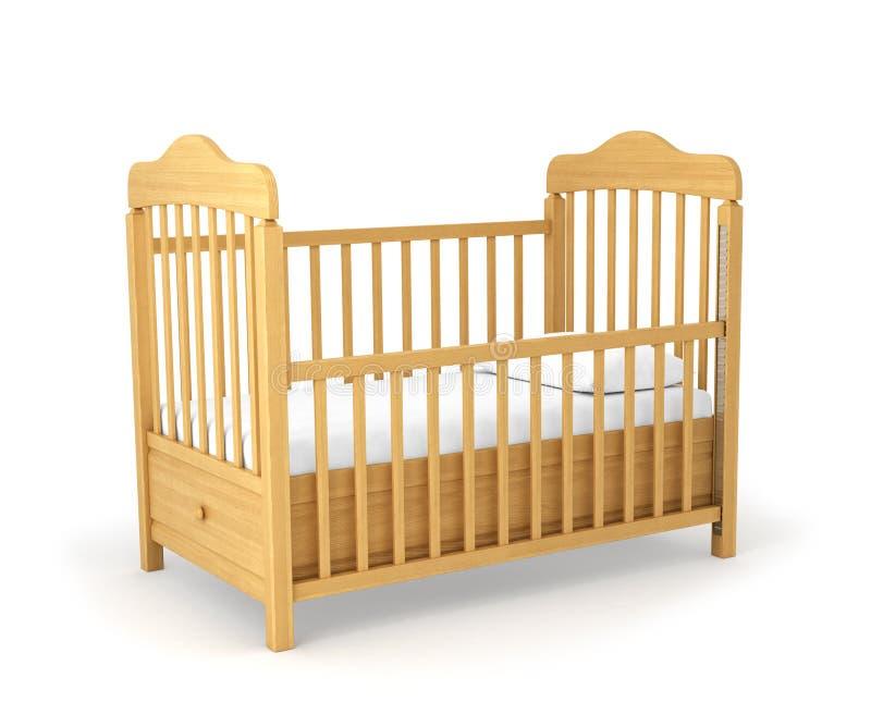 Кроватка младенца изолированная вниз стоковые фотографии rf