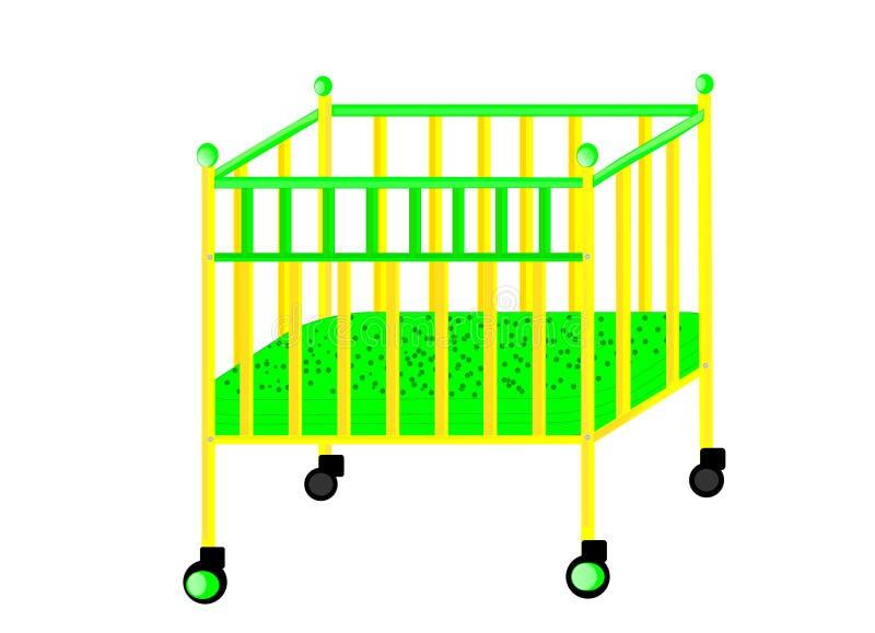 Кровать для младенца иллюстрация штока