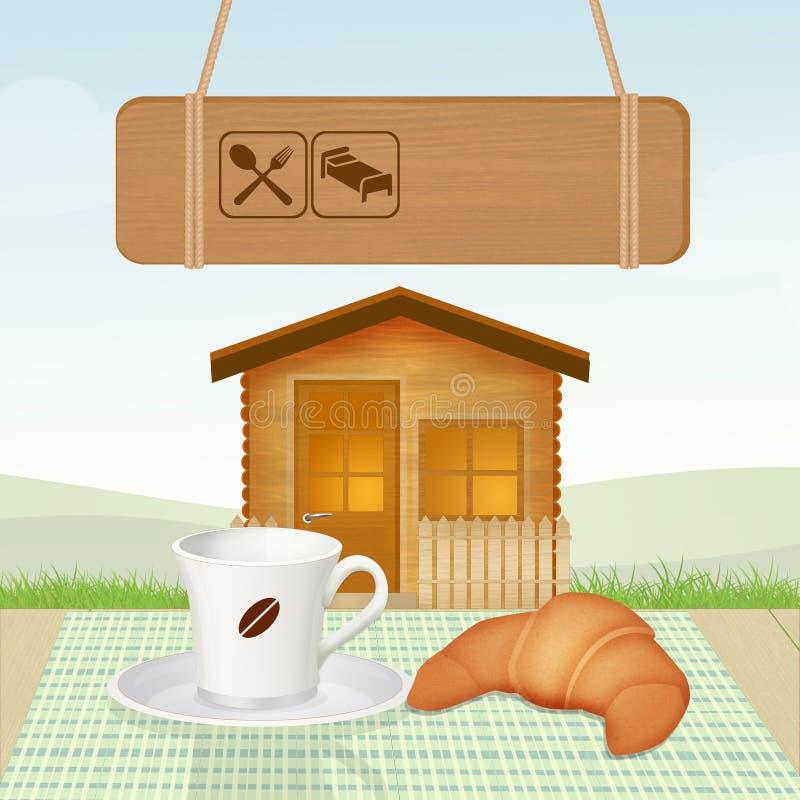 Кровать - и - завтрак бесплатная иллюстрация