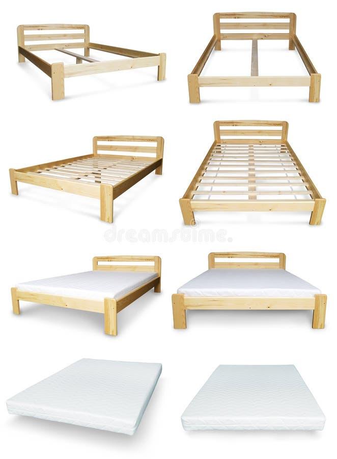 Кровать и тюфяк стоковое фото