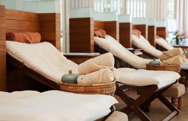 Кровать массажа стоковое фото
