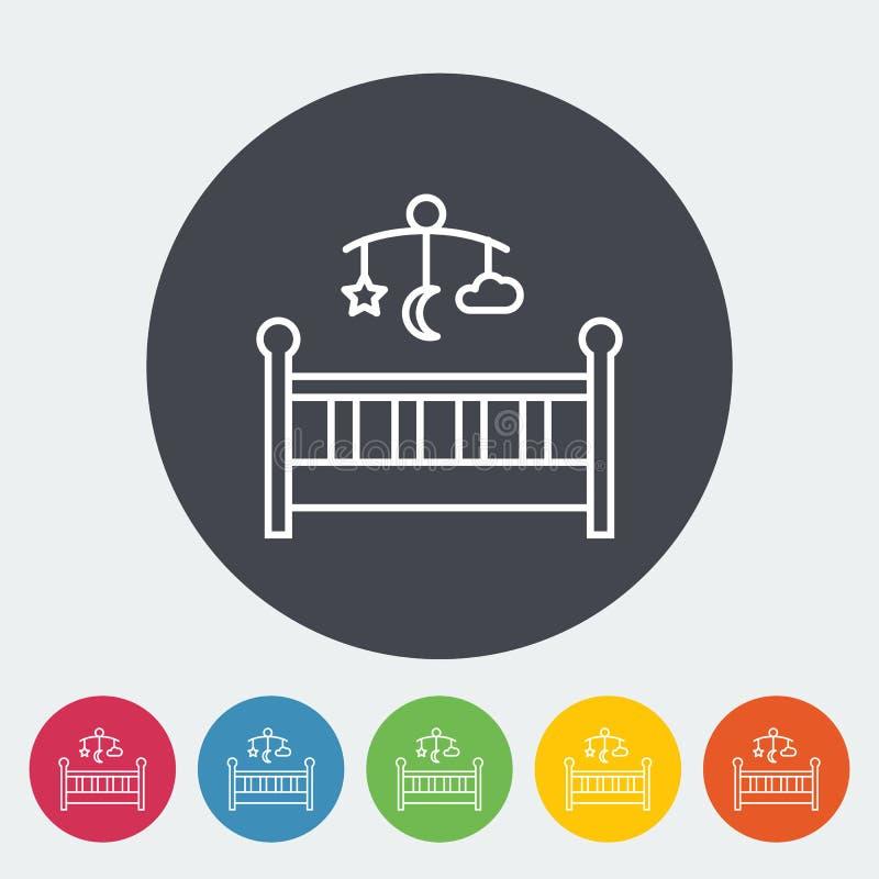 Кровать младенца иллюстрация вектора
