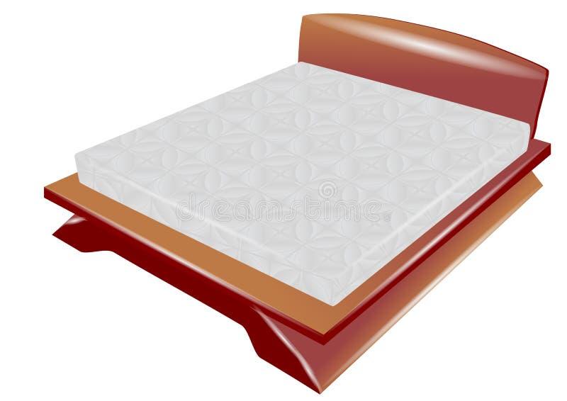 Кровать сна иллюстрация вектора