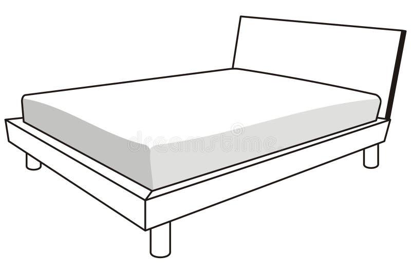 кровать иллюстрация штока