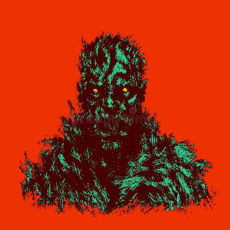 Кровопролитная концепция зомби также вектор иллюстрации притяжки corel иллюстрация вектора