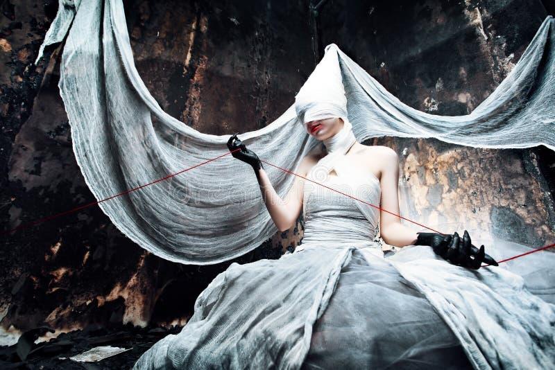 кровопролитная невеста стоковые фотографии rf