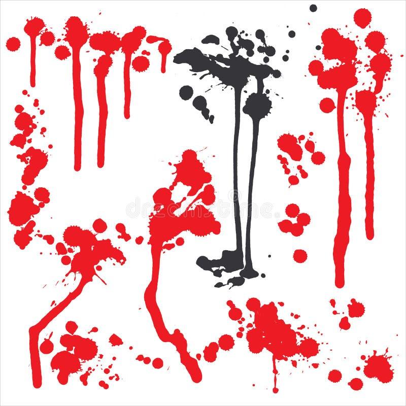 кровопролитное grunge иллюстрация штока