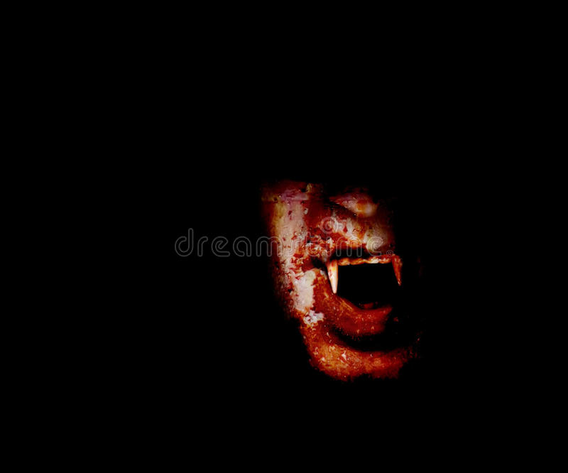 кровопролитный вампир стороны стоковая фотография rf