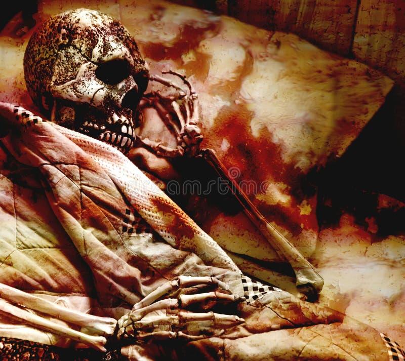 кровопролитный скелет стоковые изображения rf