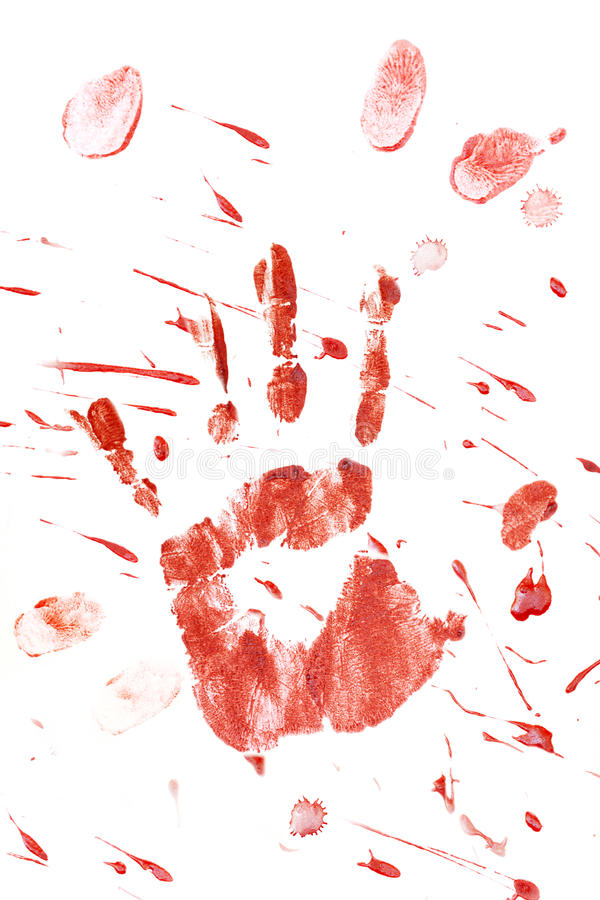 кровопролитный splatter handprint стоковое фото rf
