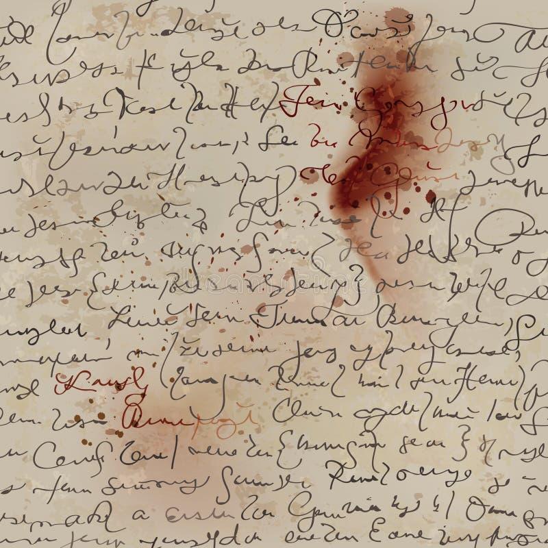 Кровопролитное письмо иллюстрация штока