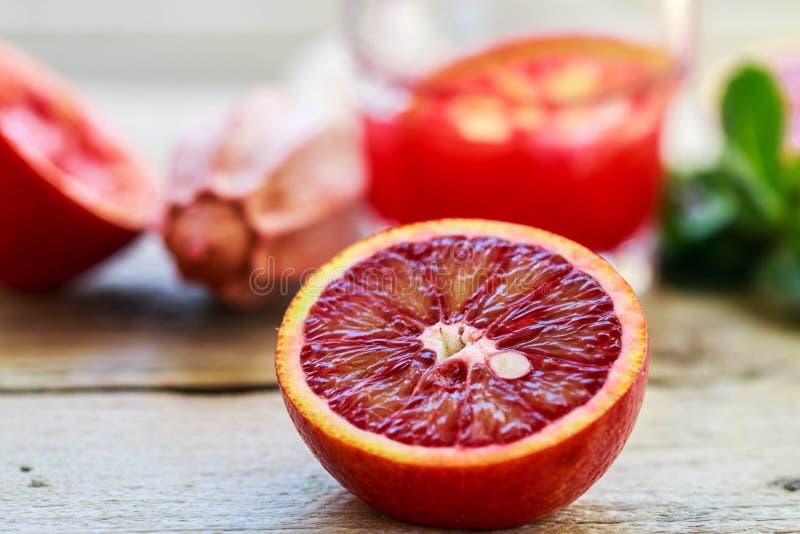Кровопролитные сицилийские апельсины стоковая фотография