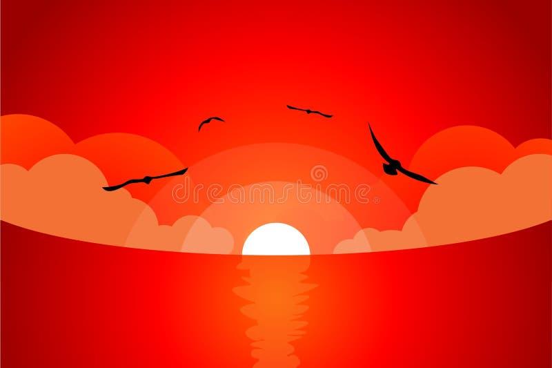 кровопролитный заход солнца стоковые изображения rf