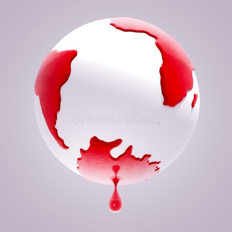 Кровотечение земли планеты иллюстрация штока