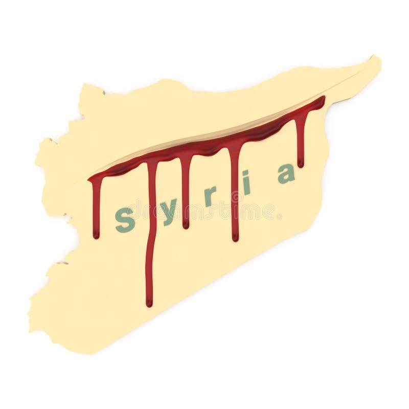 Кровотечение Сирия иллюстрация вектора