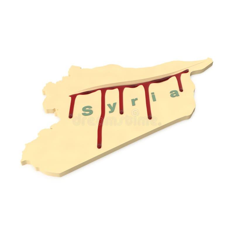 Кровотечение Сирия иллюстрация штока