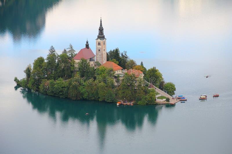 Кровоточенное озеро, Словения, Европа стоковые изображения rf