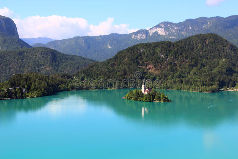 кровоточенное озеро Словения стоковая фотография