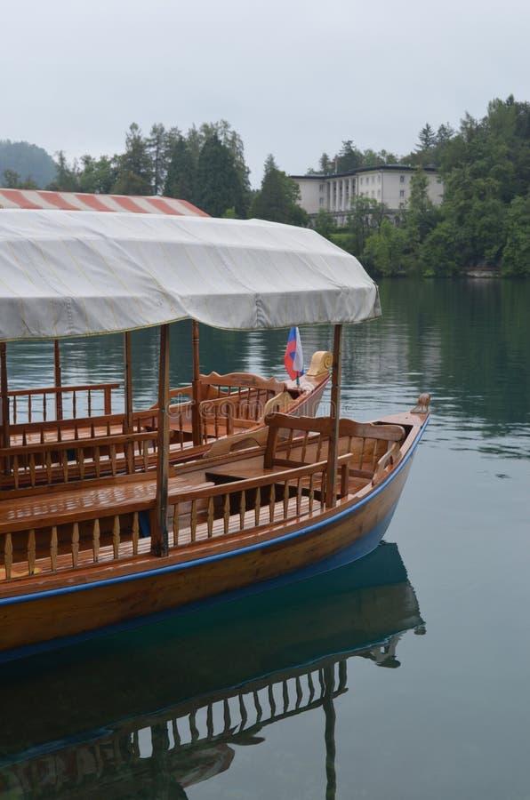 Кровоточенное озеро, Словения стоковые фотографии rf