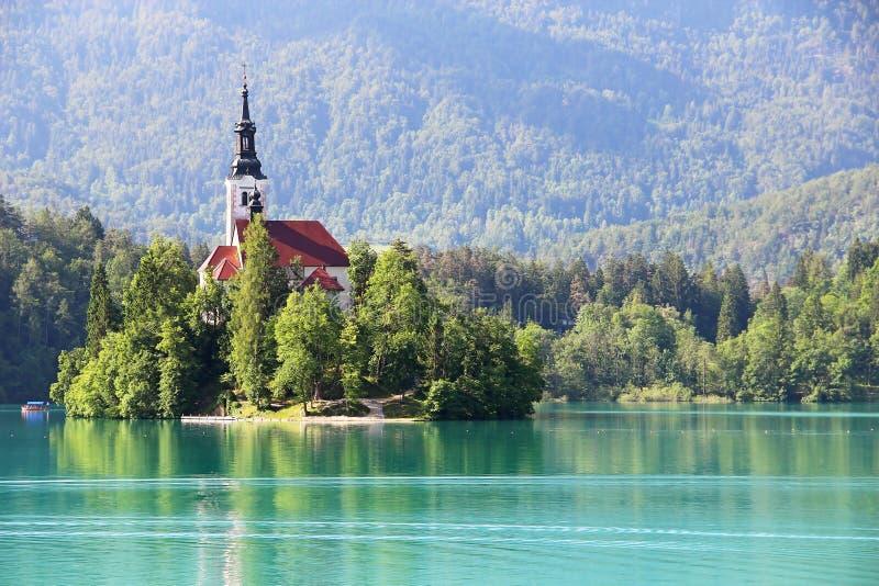 кровоточенное озеро Словения стоковые изображения