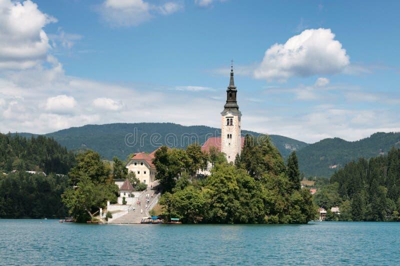 кровоточенный остров Словения стоковое фото rf