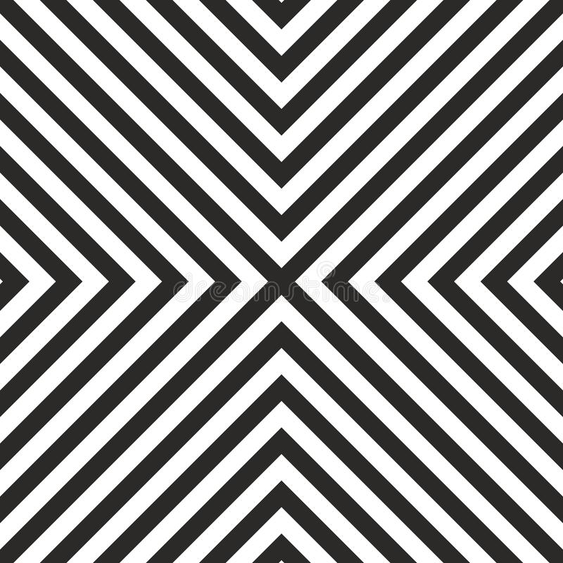 Кройте картину плитки вектора черно-белую или геометрическую предпосылку черепицей иллюстрация штока