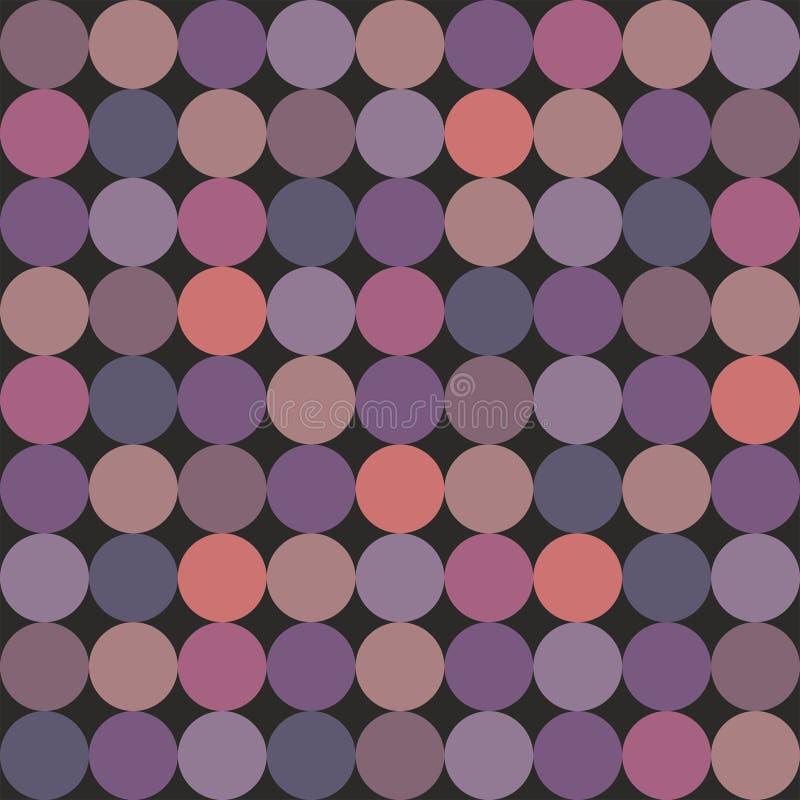 Кройте картину черепицей вектора с красочными точками польки на черной предпосылке иллюстрация вектора