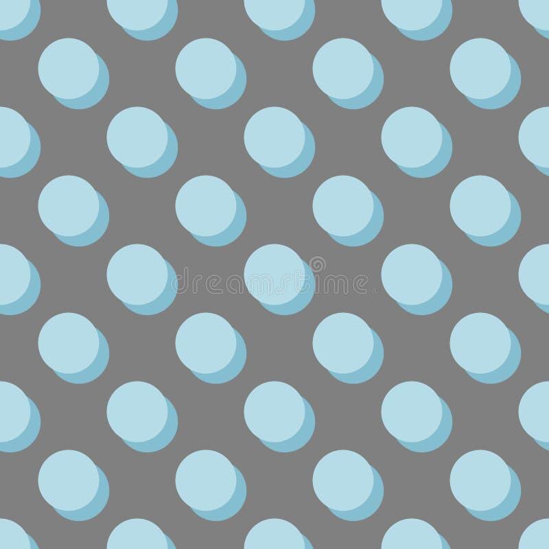 Кройте картину черепицей вектора с пастельными голубыми точками польки с тенью бесплатная иллюстрация