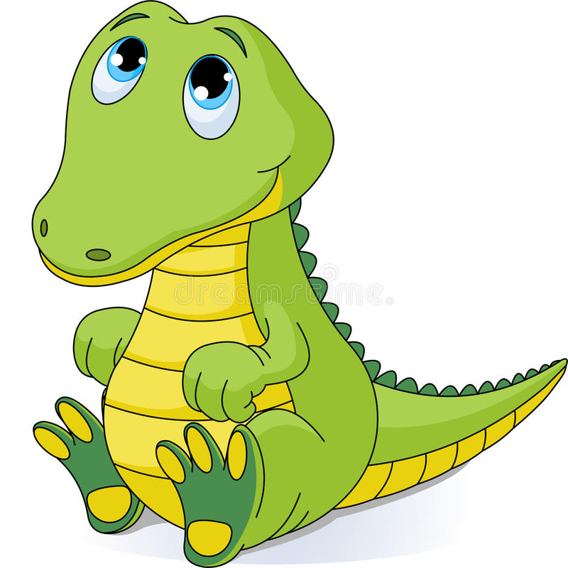 крокодил младенца иллюстрация штока