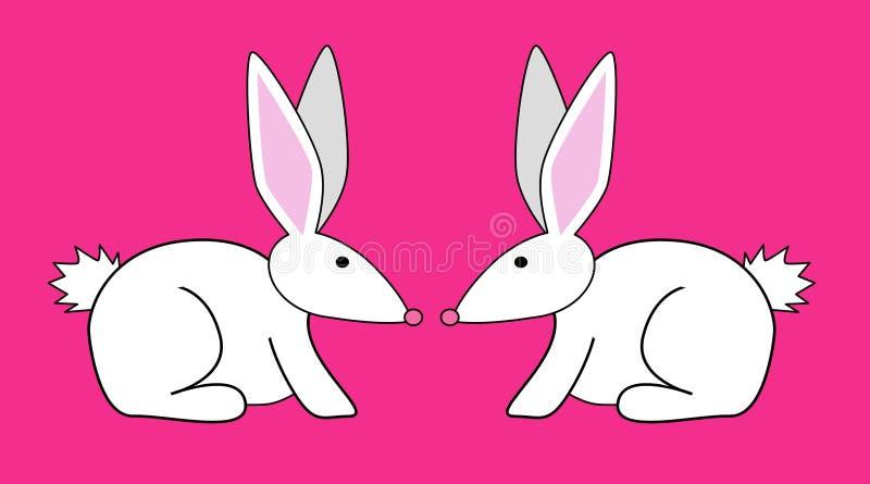 Download кролики 2 иллюстрация штока. иллюстрации насчитывающей зайчики - 492411
