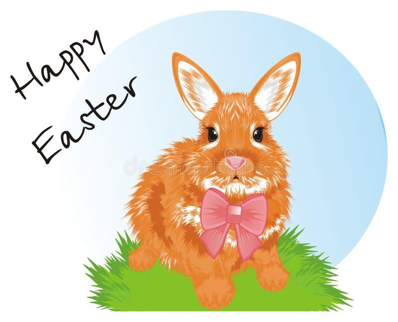 Кролик и время пасхи иллюстрация штока