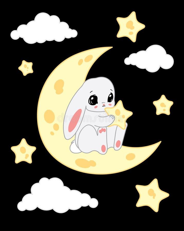 кролик луны бесплатная иллюстрация