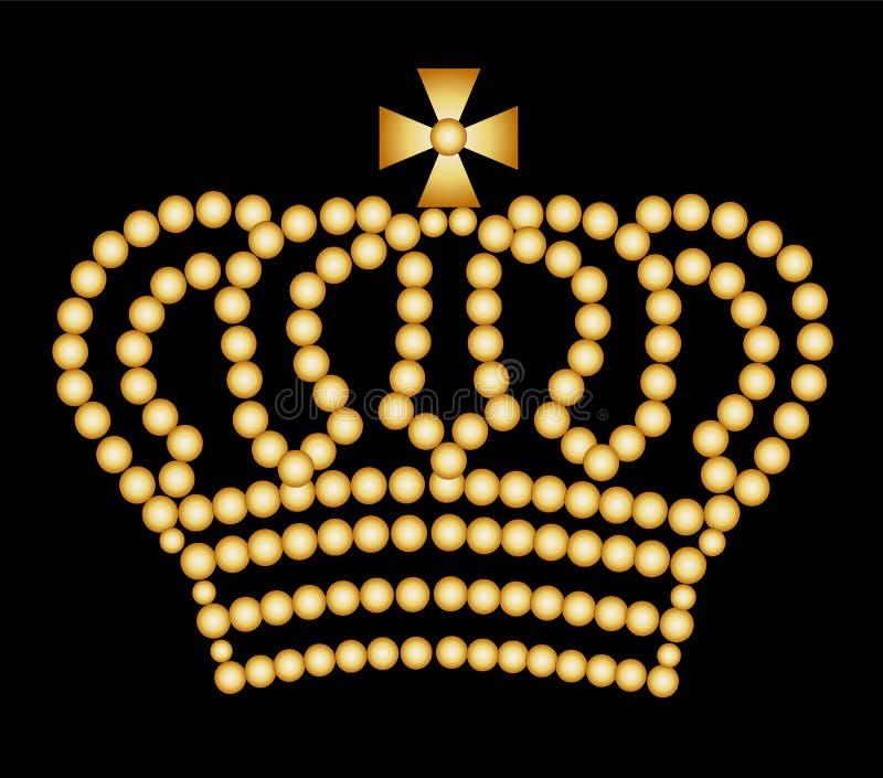 крона золотистая иллюстрация вектора