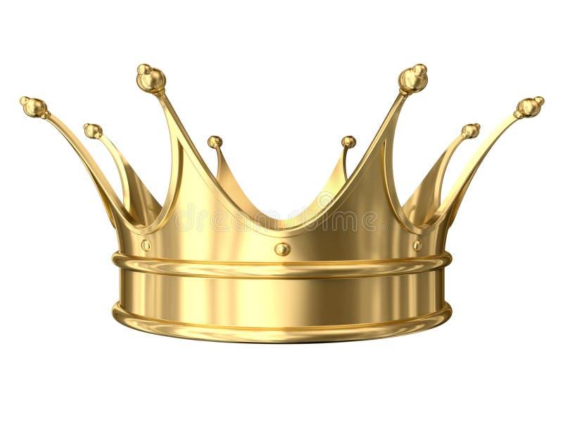 Крона золота иллюстрация штока