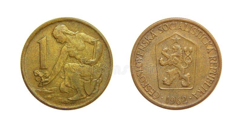 Крона монетки 1 Чехословакия 1962 стоковая фотография