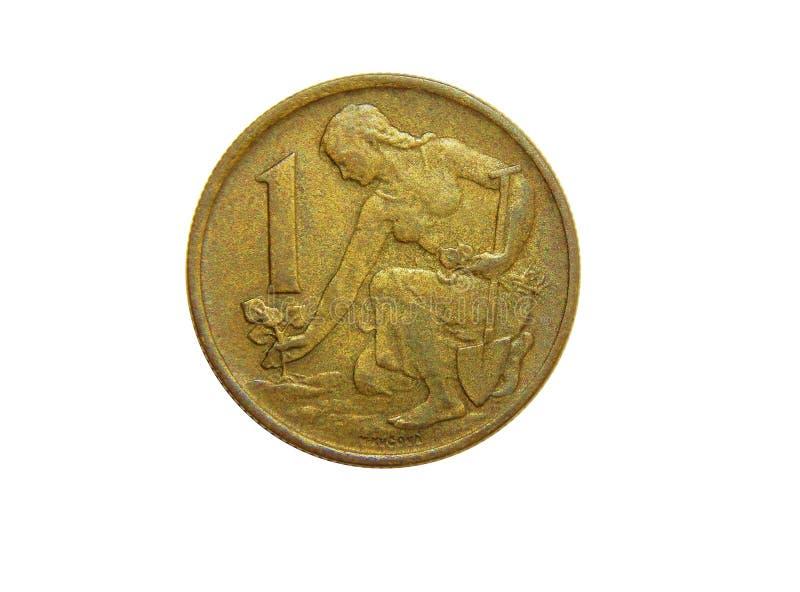 Крона монетки 1 Чехословакия 1962 стоковые изображения