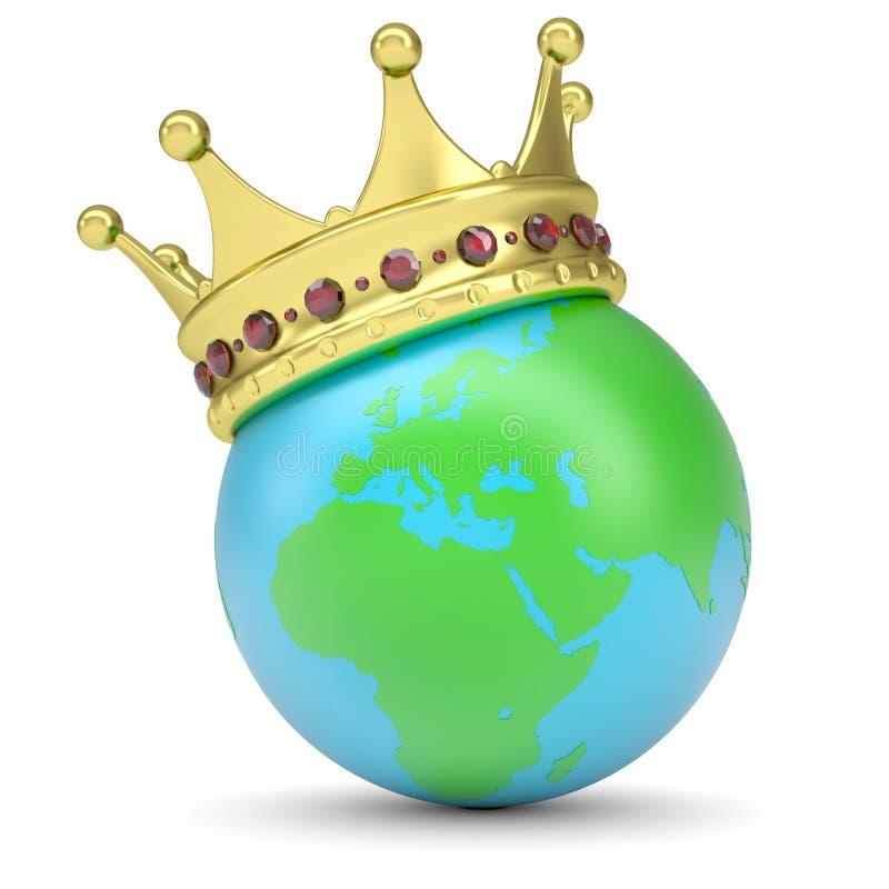 Крона на земле иллюстрация вектора