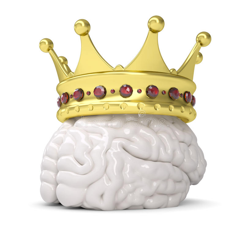 Крона на мозге иллюстрация штока